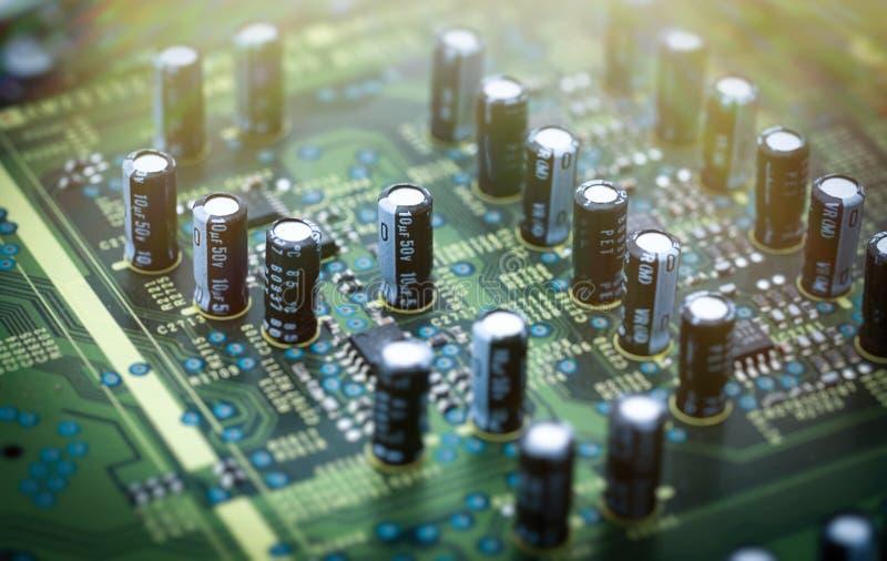 Colpo a macroistruzione del circuito immagini stock