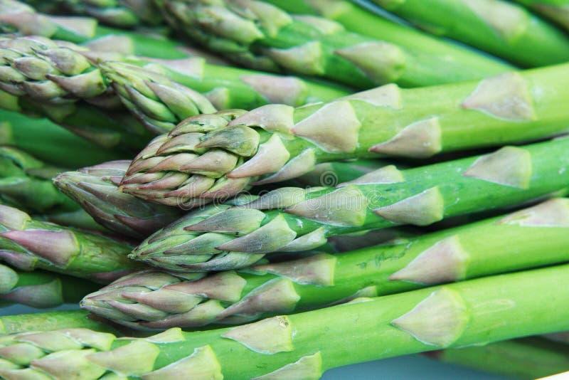 Colpo a macroistruzione di asparago fotografia stock