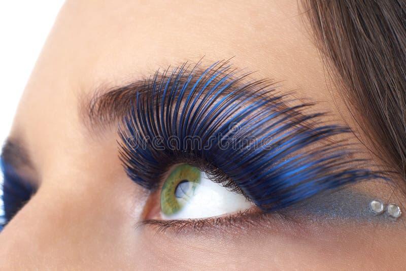Colpo a macroistruzione di bei occhi fotografia stock