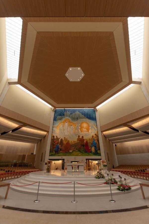 Colpo, Mayo, Irlanda ` S Marian Shrine nazionale dell'Irlanda in Co Mayo, visitata vicino oltre 1 5 milione di persone ogni anno  immagini stock libere da diritti