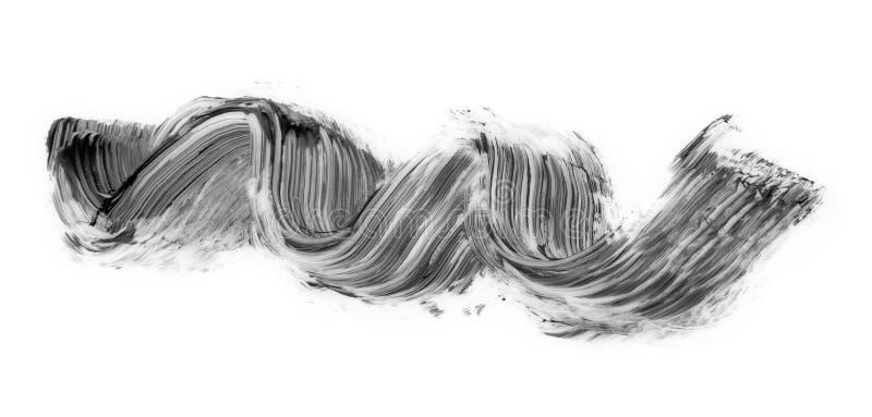 Colpo nero della spazzola della mascara isolato immagine stock