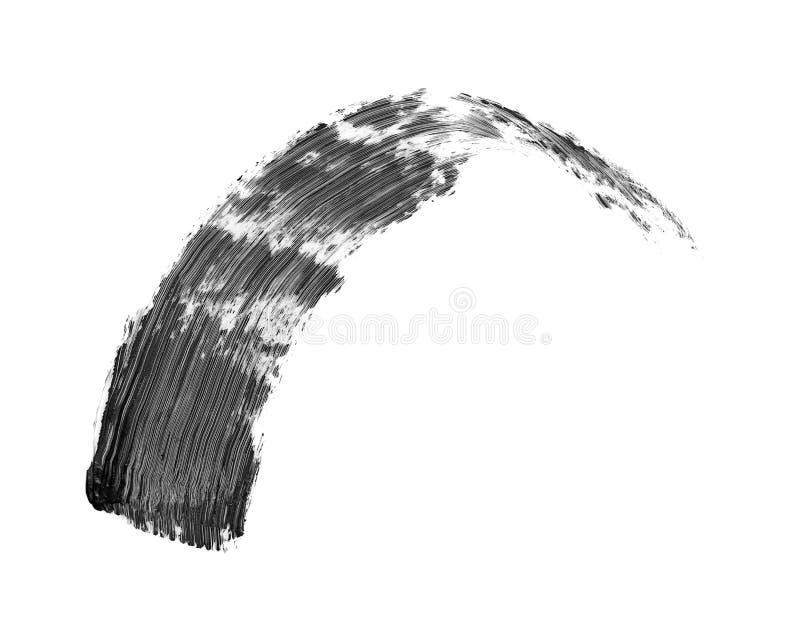 Colpo nero della spazzola della mascara isolato fotografia stock libera da diritti