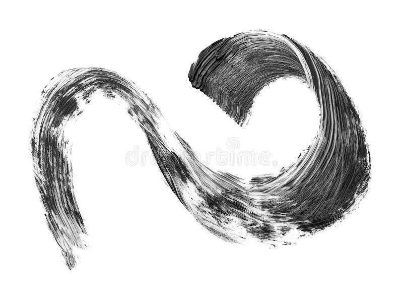 Colpo nero della spazzola della mascara isolato illustrazione vettoriale