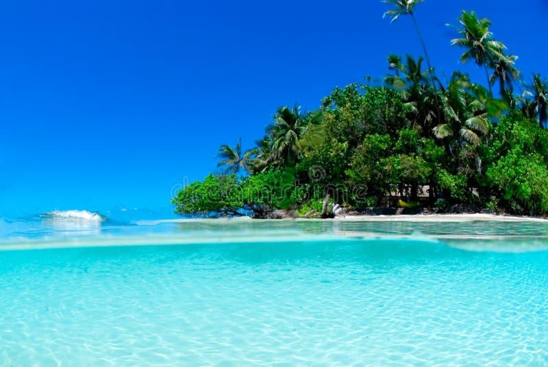 Colpo spaccato dell'isola tropicale fotografia stock libera da diritti
