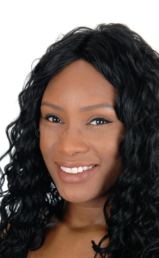 Colpo in testa della giovane donna africana fotografia stock