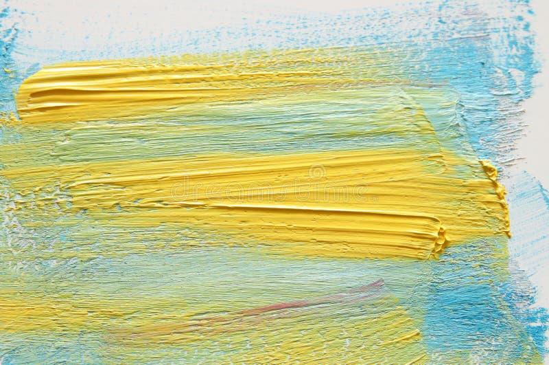 Colpo variopinto della spazzola dell'acquerello sopra fondo bianco immagini stock libere da diritti