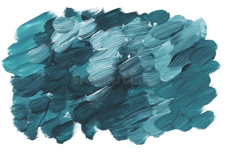 Colpo verde marino del pennello acrilico illustrazione di stock