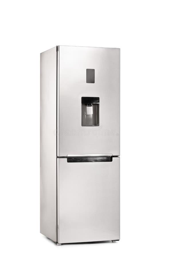 Colpo verticale di un frigorifero chiuso fotografia stock libera da diritti