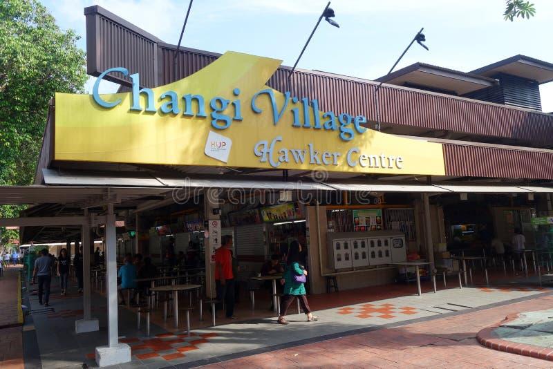 Colporteur Center de village de Changi situé dans le village de Changi, Singapor image libre de droits