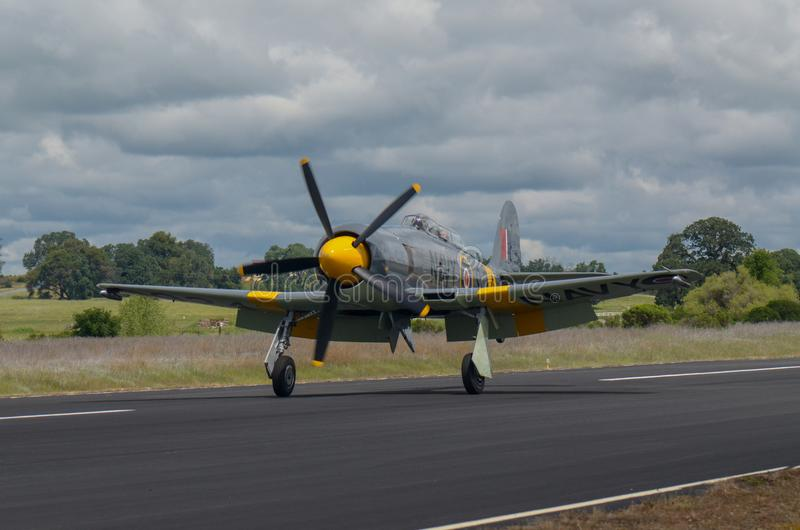 Colporteur Sea Fury Landing images libres de droits