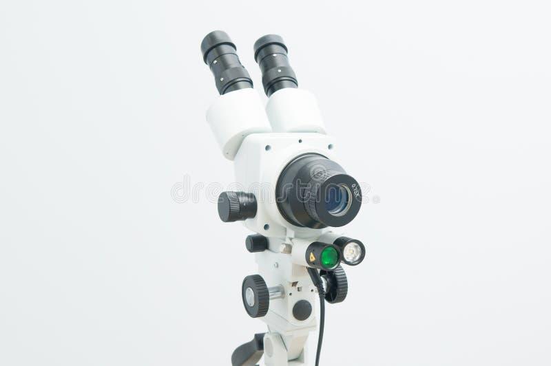 Colposcope που απομονώνεται στο λευκό στοκ φωτογραφίες