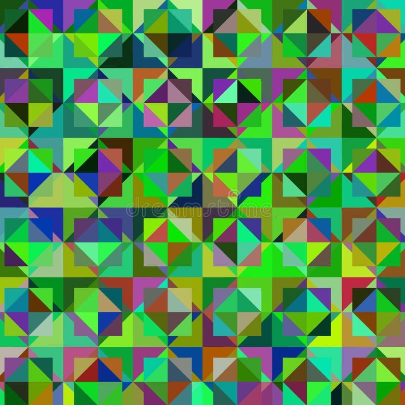 Colroful geometrisk bakgrund för abstrakt vektor royaltyfri illustrationer