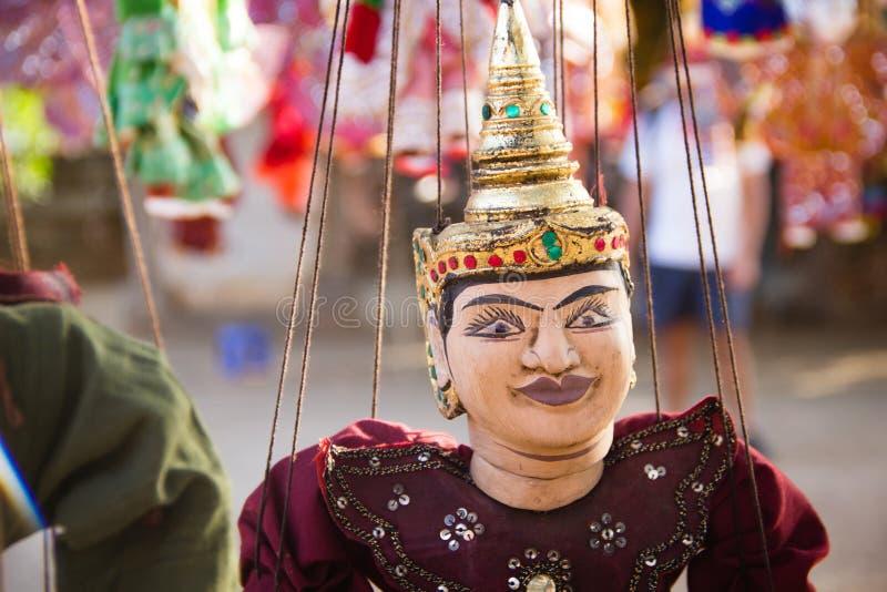 Colse del burattino di tradizione del Myanmar su fotografie stock libere da diritti