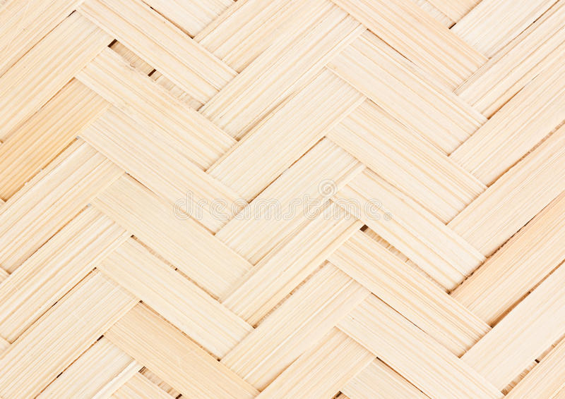 Colse op bamboe houten het weven textuur, Thaise handwork stock afbeeldingen