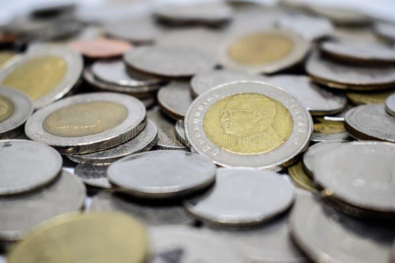 Colse para arriba de la moneda tailandesa fotos de archivo libres de regalías