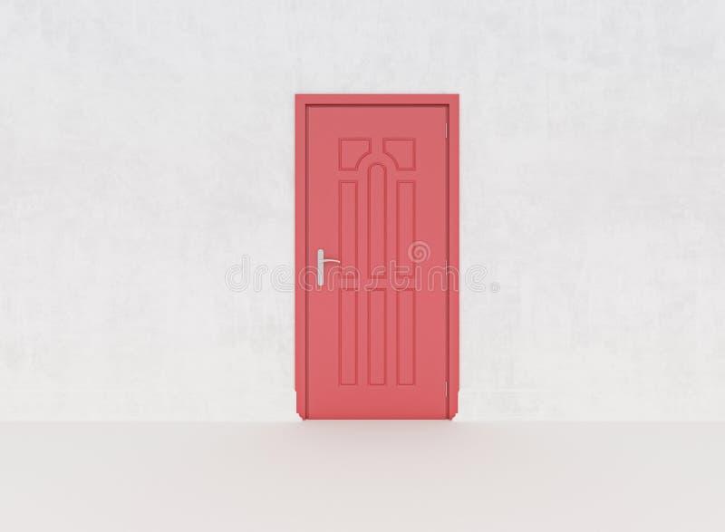 Colsed röd dörr arkivbilder
