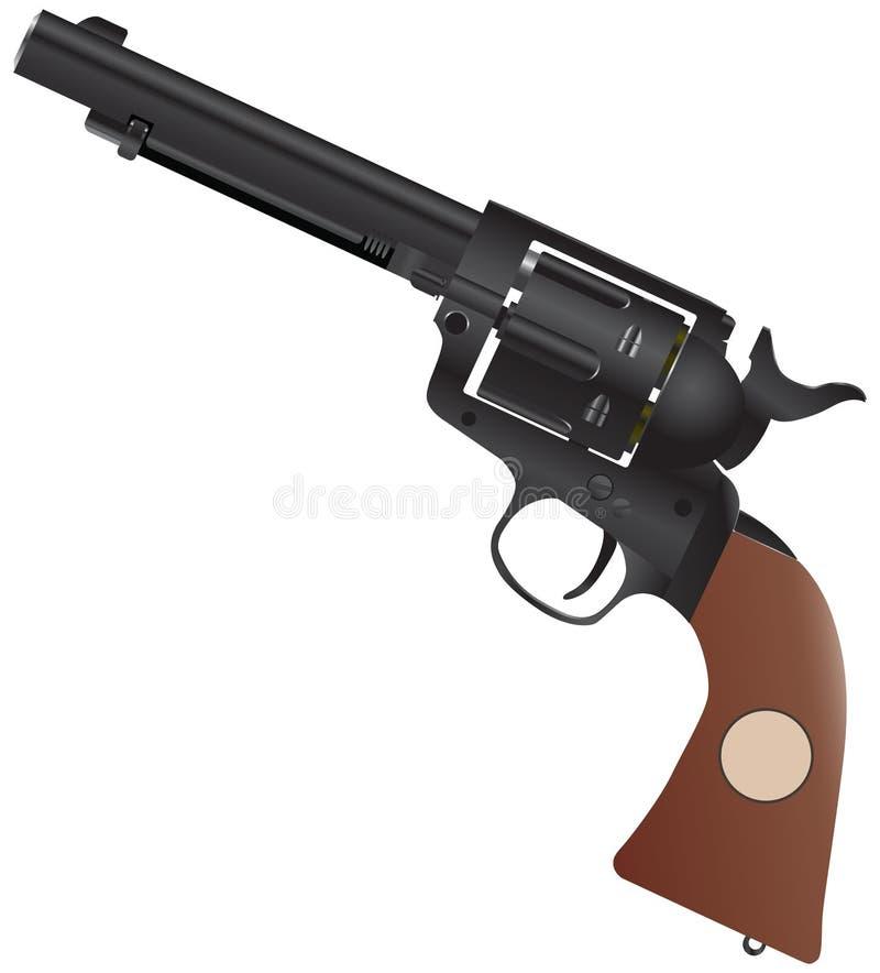 Colt mit einem Holzgriff vektor abbildung