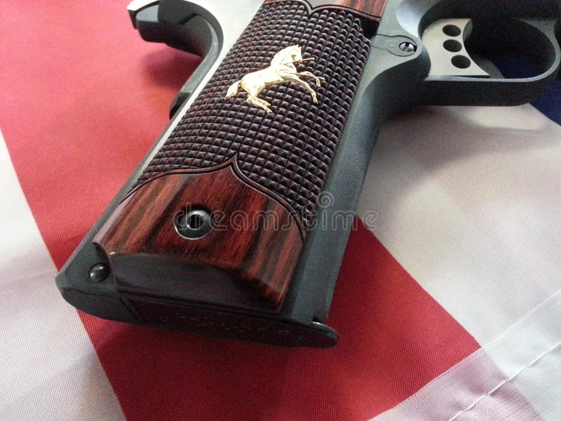 Colt 1911 National Royal Match Pistol. This is a Colt 1911 National royal Match Pistol. It is 45 Caliber and this is one of 250 made. It is pictured on an stock photo