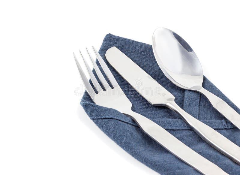 Coltello, forchetta e cucchiaio fotografia stock libera da diritti