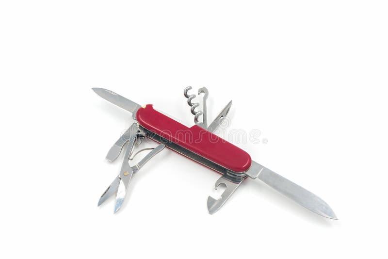 Coltello svizzero, multi coltello di scopo fotografia stock
