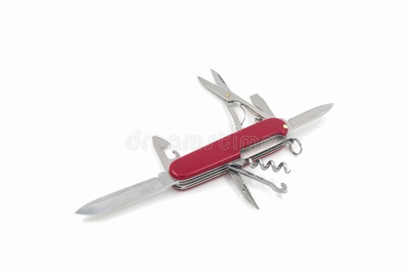 Coltello svizzero, multi coltello di scopo immagine stock libera da diritti
