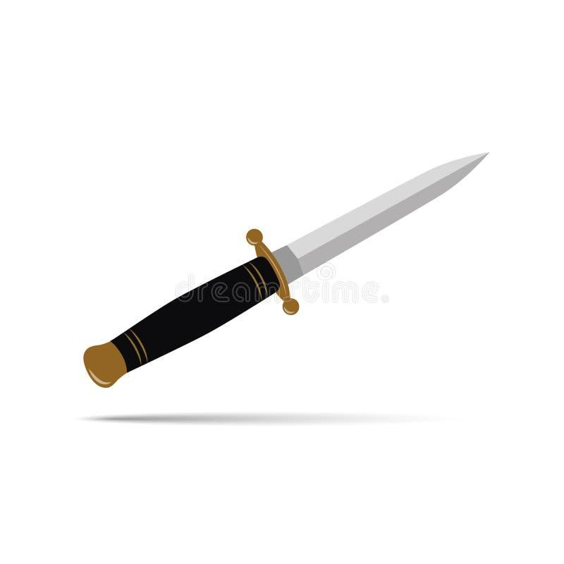Coltello tagliente del pugnale isolato royalty illustrazione gratis