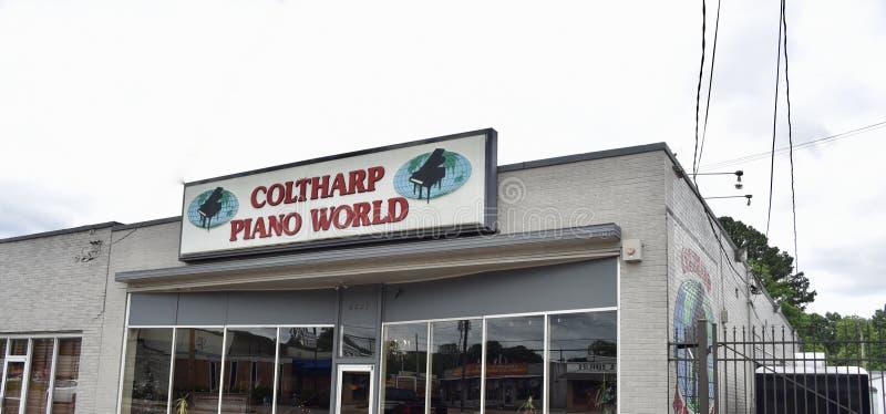 Coltharp钢琴世界孟菲斯,TN 免版税库存图片