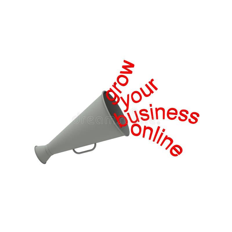 Coltivi il vostro affare online illustrazione di stock