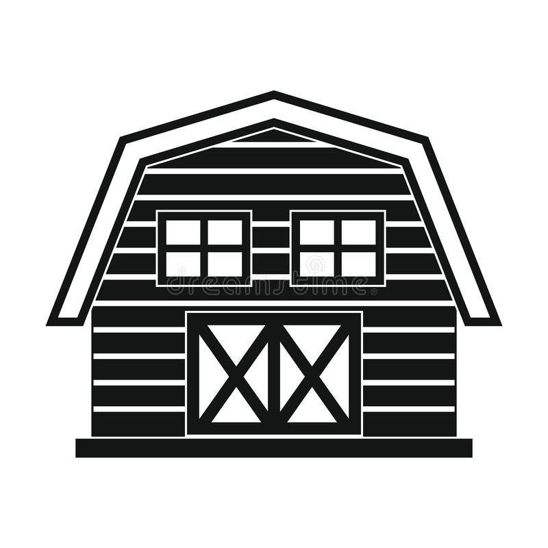Coltivi la casa nello stile semplice nero isolata su fondo bianco royalty illustrazione gratis