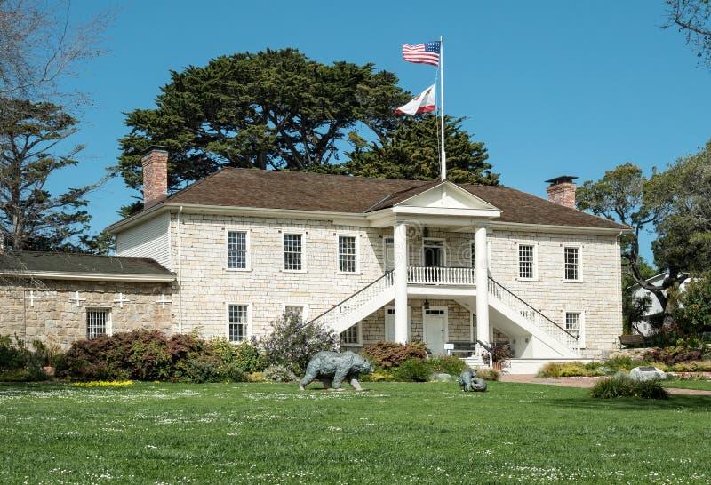 Colton Hall, Monterey, Californië stock fotografie