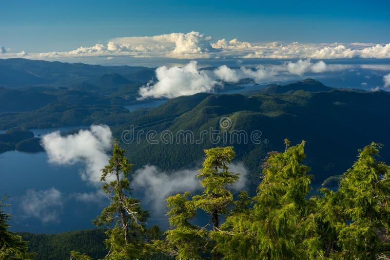 Columbia Britânica litoral imagens de stock