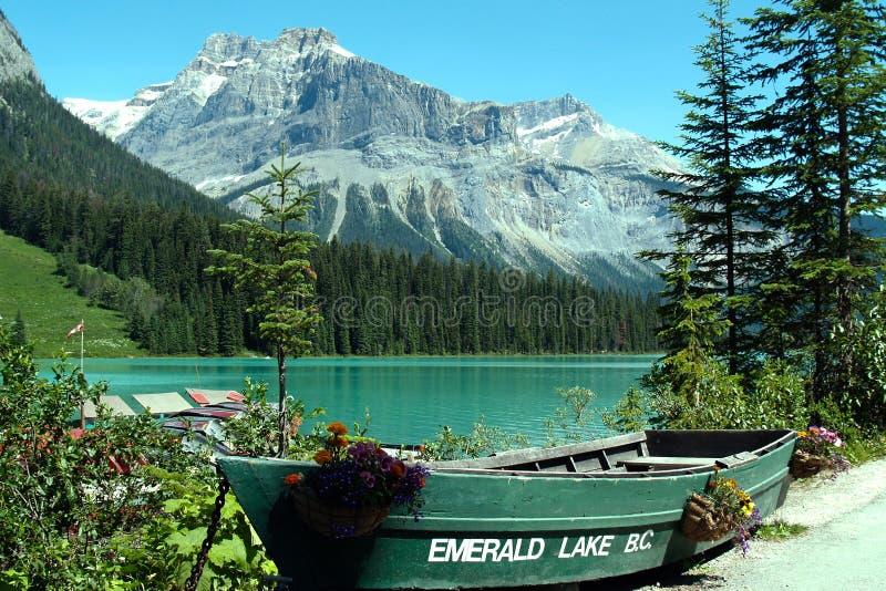Columbia Britannica, lago Emeral fotografia stock