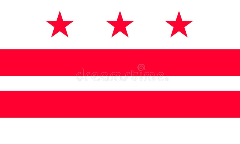 Columbia. USA flag; from vector collection royalty free illustration