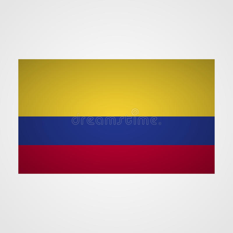 Columbia flag on a gray background. Vector illustration royalty free illustration