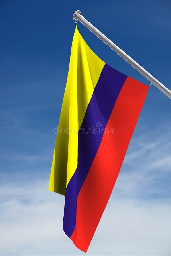 columbia flagga royaltyfri illustrationer