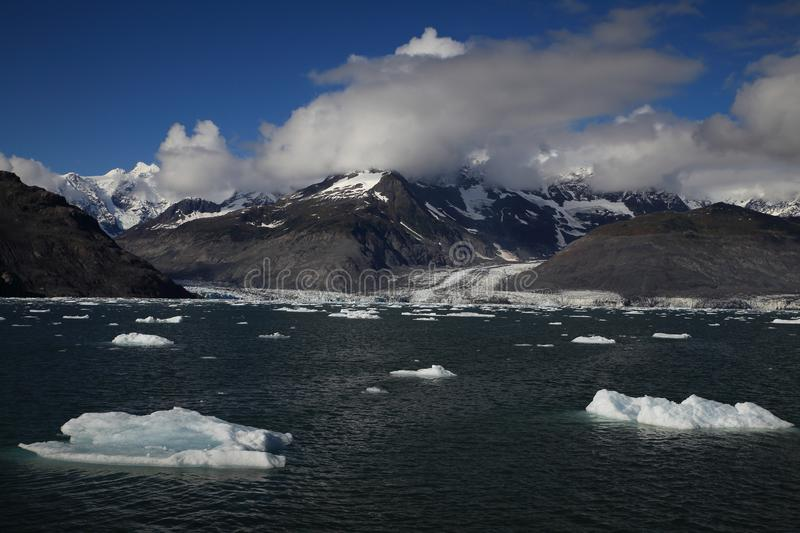 Columbia Glacier, Columbia Bay, Valdez, Alaska. Ice and icebergs in the environment of Columbia Glacier, Columbia Bay, Valdez, Alaska, aleutian, america stock photo