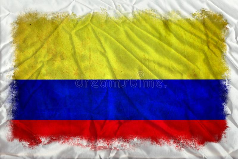 Columbia grungeflagga stock illustrationer