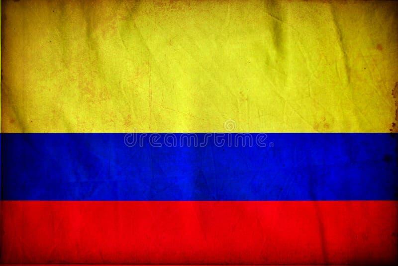 Columbia grungeflagga vektor illustrationer