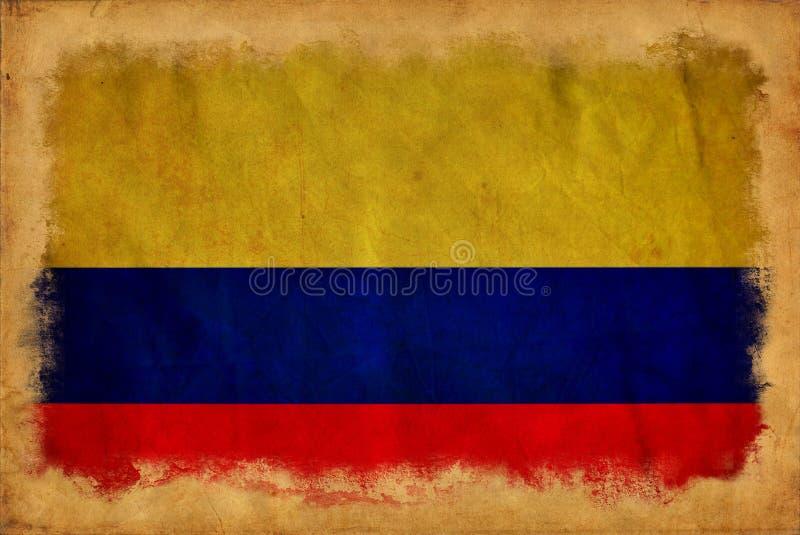 Columbia grungeflagga royaltyfri illustrationer