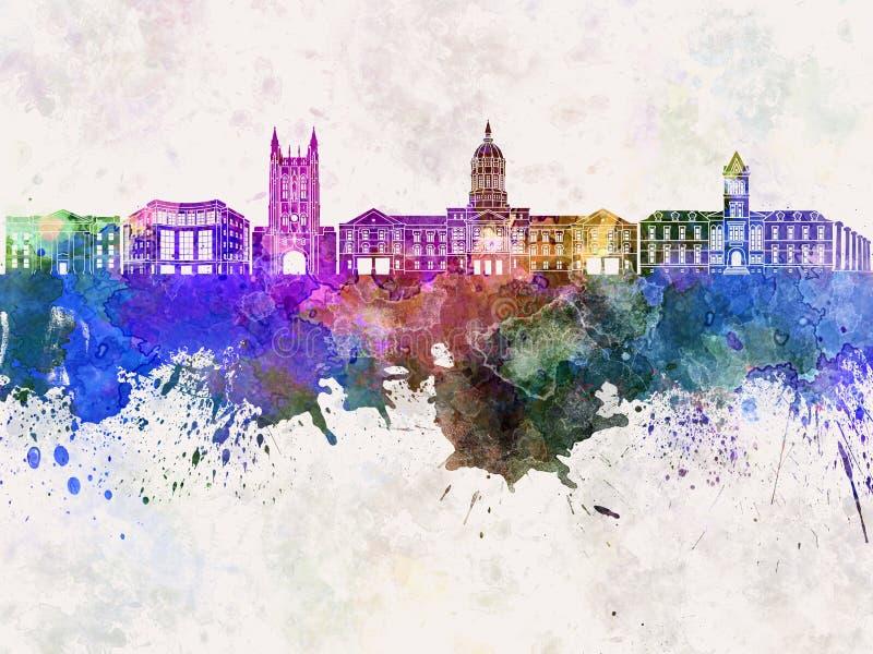 Columbia horisont i vattenfärg royaltyfri illustrationer