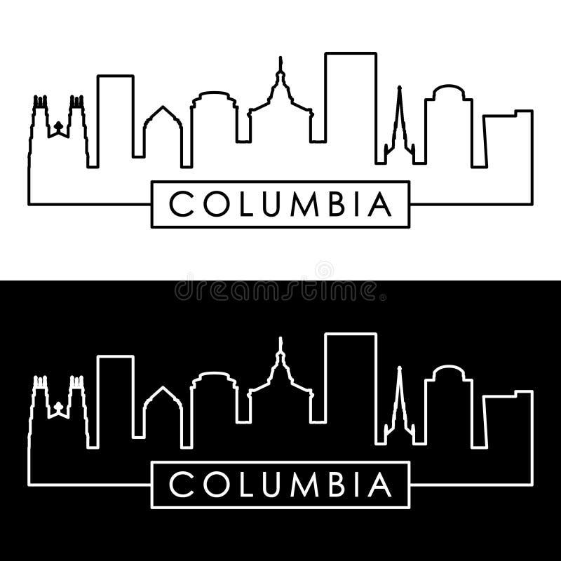 Columbia horisont linjär stil stock illustrationer
