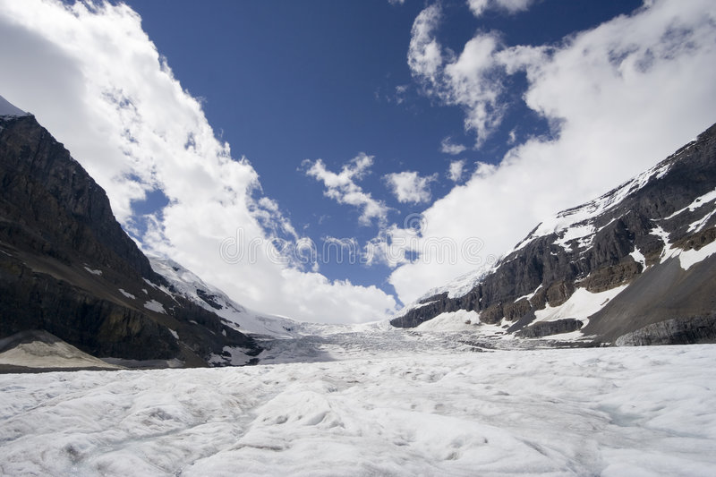 Columbia icefield stock image