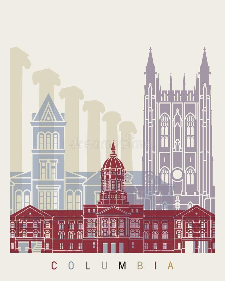 Columbia MO horisontaffisch royaltyfri illustrationer