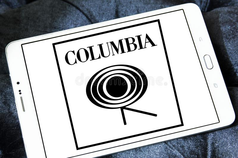Columbia Records logo fotografia royalty free