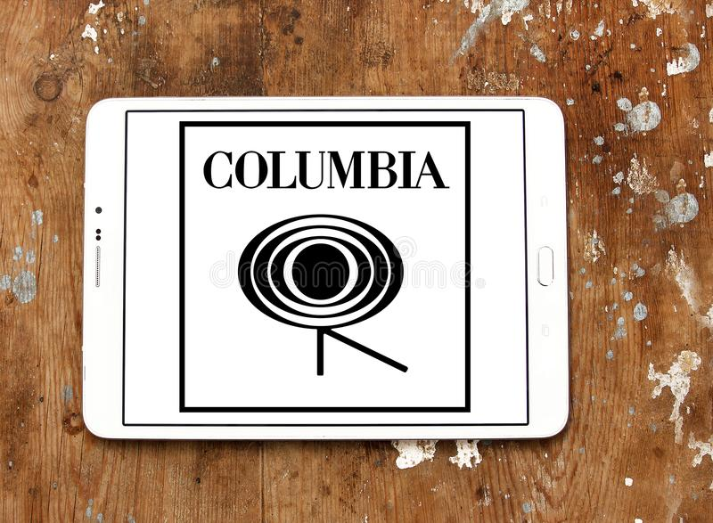 Columbia Records logo zdjęcia royalty free