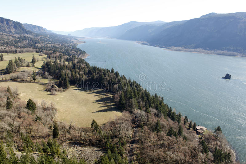 The Columbia River Gorge. As seen from Washington royalty free stock image