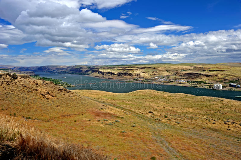 Columbia River Gorge. The Columbia River Gorge is a canyon of the Columbia River in the Pacific Northwest of the United States royalty free stock image