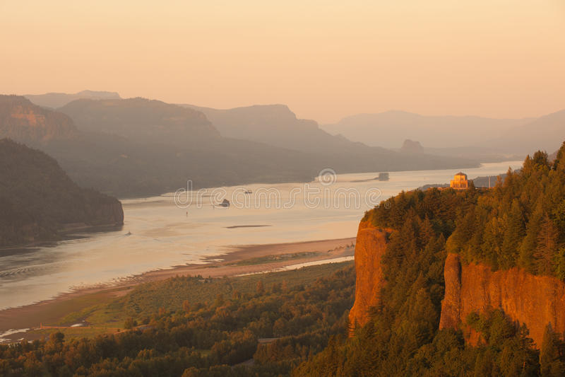 Columbia River Gorge. Historic Vista house observatory in Columbia River Gorge, Oregon stock image