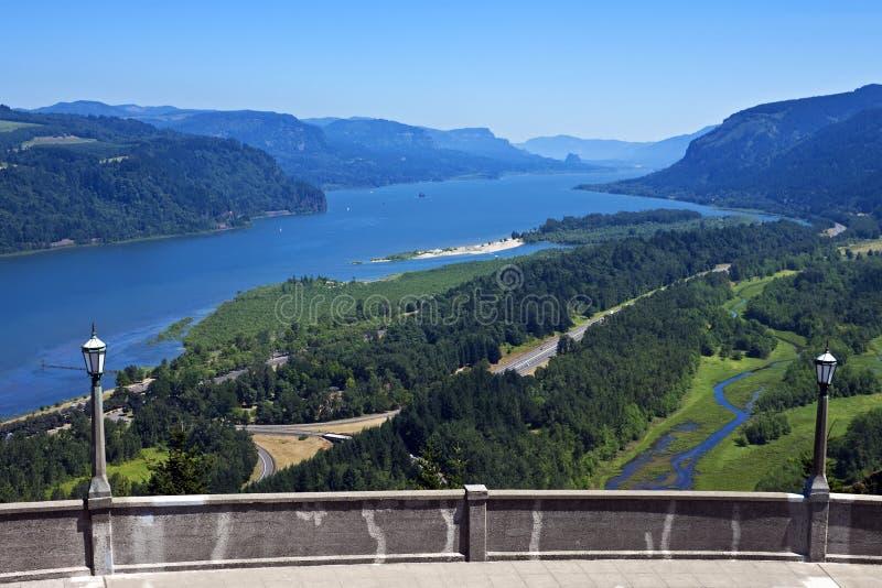Columbia River Gorge. From Vista House, Crown Point, near Corbett, Oregon stock photos