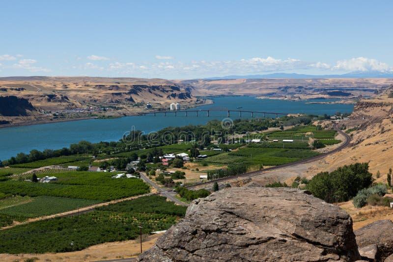 Columbia River Landschaft stockbilder